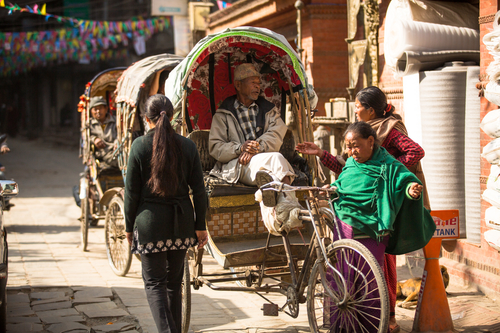 Walk to the local market and return by rickshaw